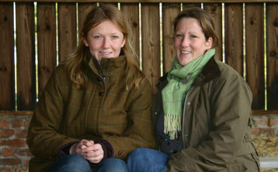 Lucy (L) and Emma Reeves, founders of MuddyMatches.com