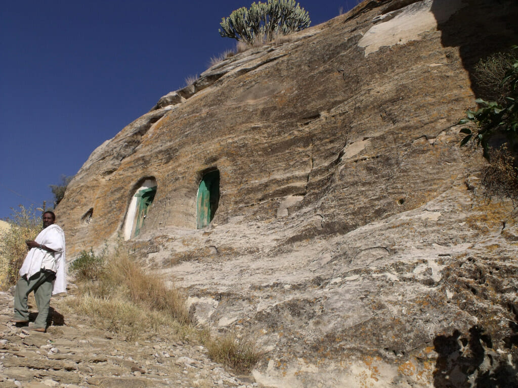 Tigray is famous for its ancient rock churches. Monasteries in the area still produce rare white honey. Photo: hhesterr