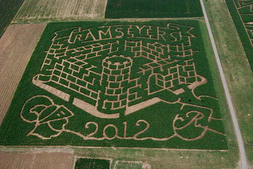 The corn mazes are charted out on a graph paper each year.
