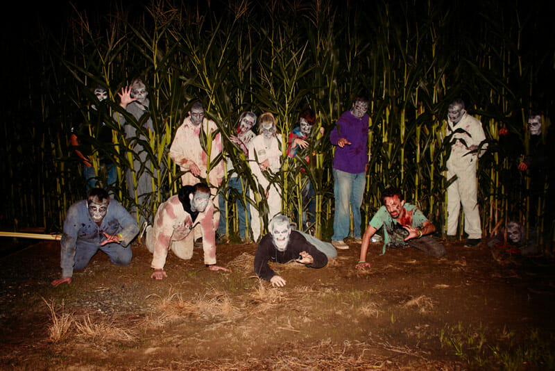 Continuing the zombie theme, Historic Hawes Farm, which hosts a number of agritainment attractions, held a paintball zombie hunt. / Historic Hawes Farm