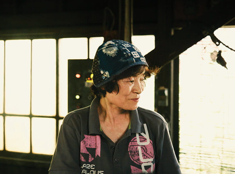 Emiko Aida, wife of Tadao and great-aunt of the factory's current owner.