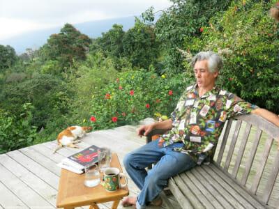 Organic coffee farmer Colehour Bondera overlooks his GM-free estate.