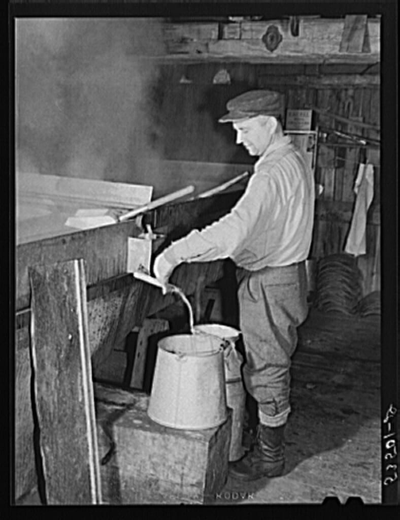 The Makings Of A Modern Bedroom: 15 Sweet Vintage Snapshots Of Making Maple Syrup