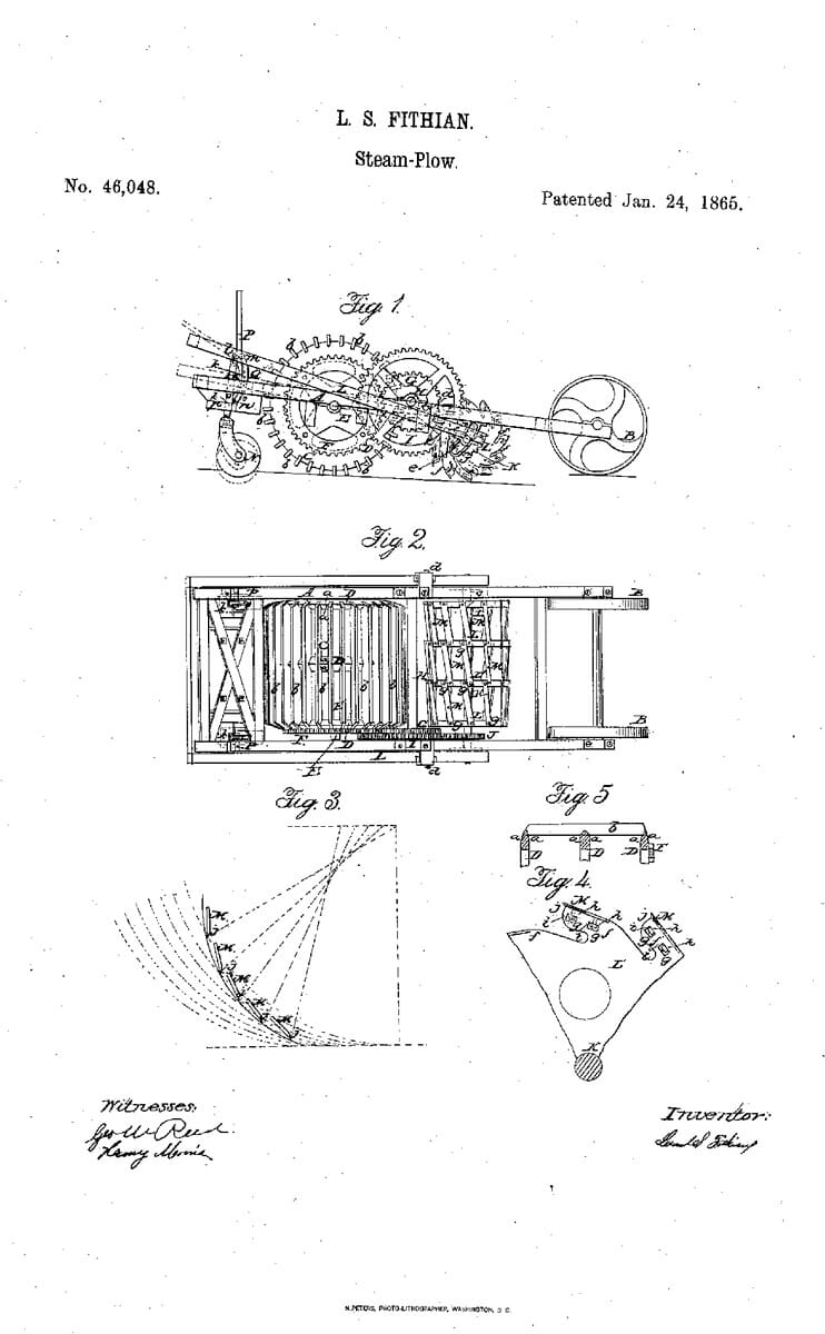 A Patent for a Steam-Plow, 1865.