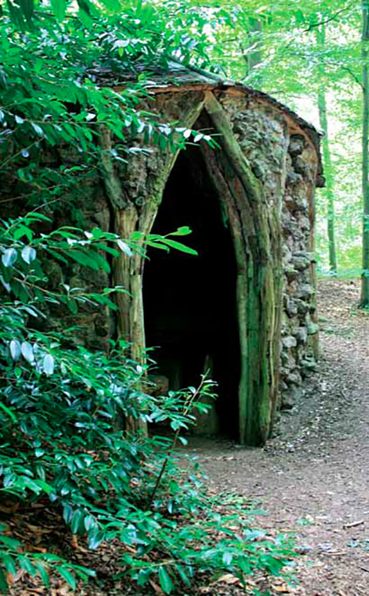 A 17th century hermitage erected during Victorian England's craze for hired hermits, located on the 27,000 acre Brocklesby estate in Lincolnshire, England. / Courtesy Oxford University Press