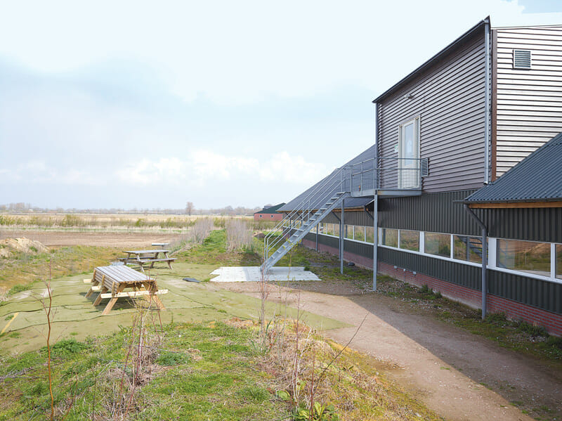 The visitor's center on Oosterlaken's farm. The mere act that he allows visitors to visit his pig operation is emblematic of the difference between the American and Dutch perspectives on agricultural protocol. Most large-scale livestock operations in the U.S. discourage gawkers.