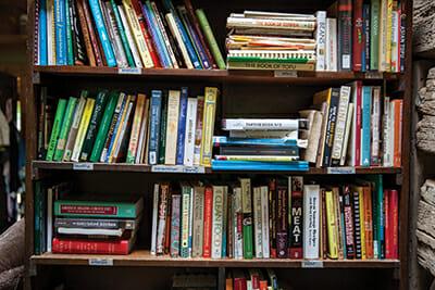 The fermentation library in Katz's cabin.