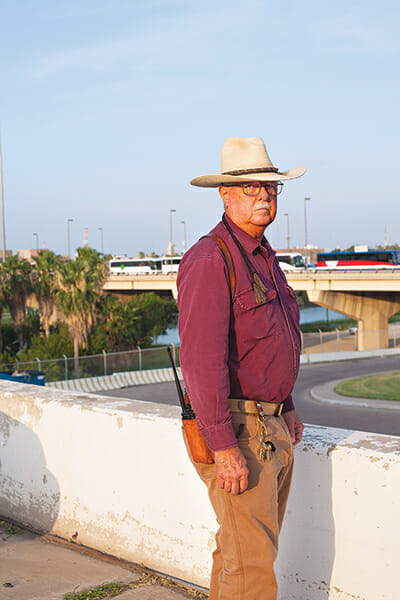 U.S. Cattle Fever Tick Eradication Program Director Edwin Bowers near the border between the U.S. and Mexico.