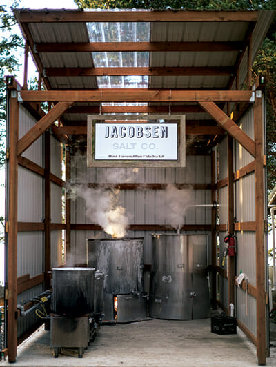 The boil room at the Jacobsen Salt Co. facility in Netarts, Oregon.