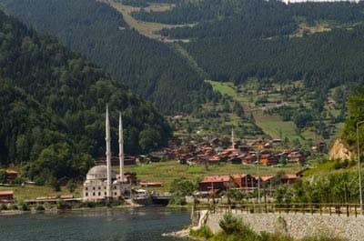 The tiny mountain village of Uzungol, an increasingly popular destination.