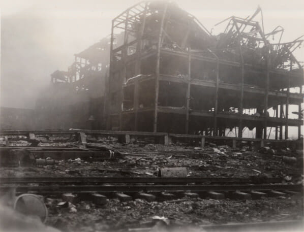A five story building destroyed in the 1947 Texas City disaster.