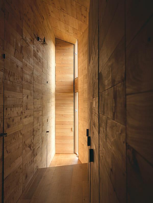 Timber louvres allow natural cross ventilation.