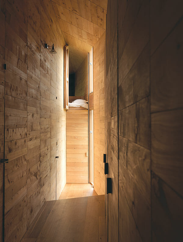A bunk window opens up for light, air and a weather report.