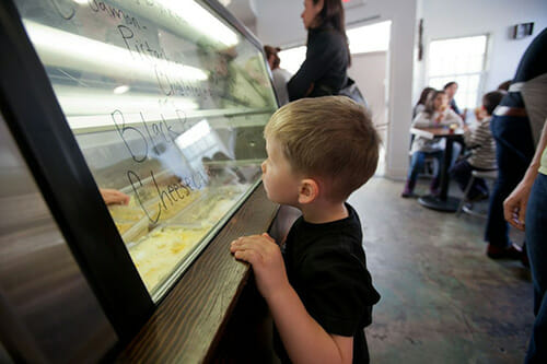 There are always nine flavors on sale at Penny Ice Creamery.