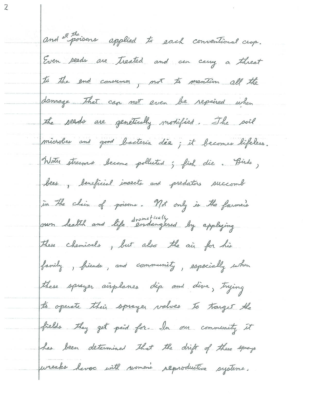 A Page Handwritten Illustrated Essay From An Amish Organic  More And More People Are Realizing The Huge Benefits Of Going Organic Both  As Growers And Producers And As Retailers And Consumers Doing Assignments Online also Persuasive Essay Samples For High School  Healthy Eating Habits Essay