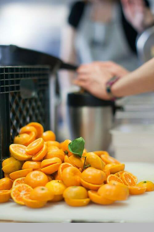 Oranges being prepared at PIC.