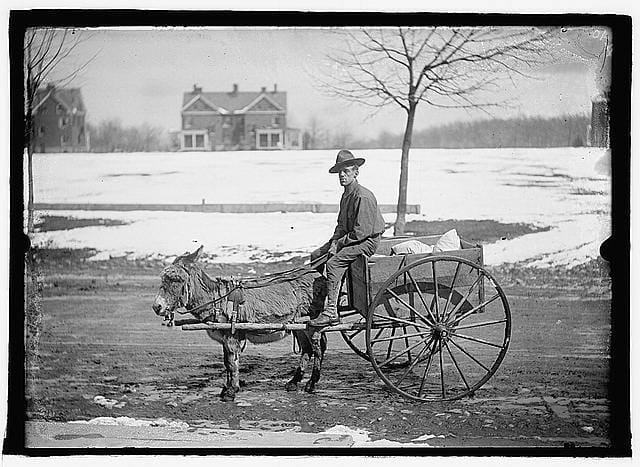 Army Goat & Cart