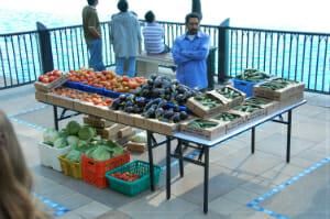 Vendor at the market.