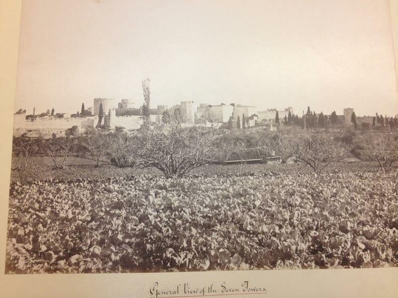 The Yedikule farms, from the 1800s, taken by Abdullah Freres.