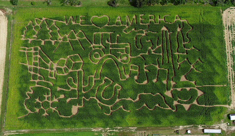 A maze at Beriswell Farms in Valley City, OH. / Beriswill Farms