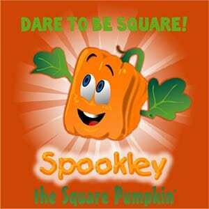 Spookley, telling kids it's hip to be square.