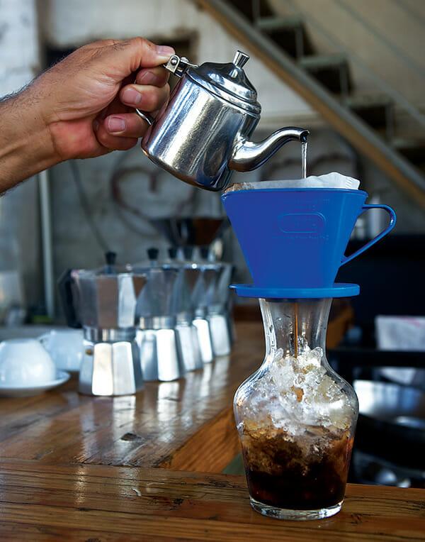 Café al hielo, or iced coffee, at Azul Café.
