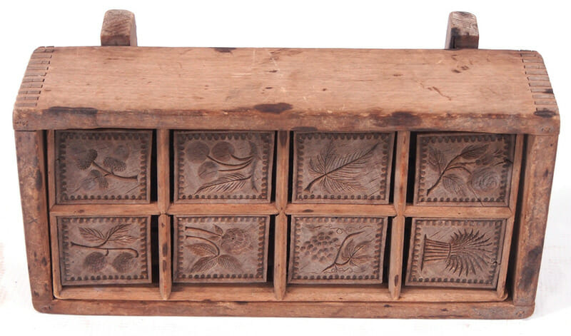 Wooden Butter Mold With 8 Different Patterns