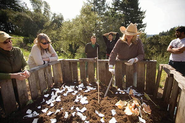 Cynthia Sandberg teaches the crucial (if unglamorous) skill of building a compost pile