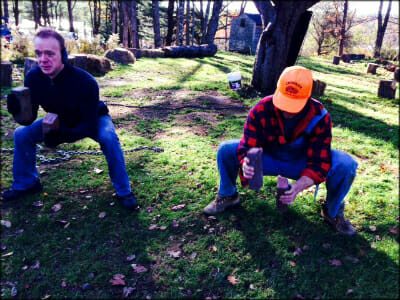 WolfPack members do a farm exercise called Milking the Cow (yes, the bricks are udders).