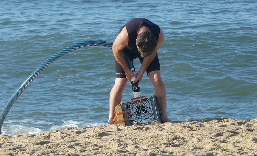 Preparing to gather saltwater on Martha's Vineyard.