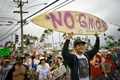 Surfer protest.