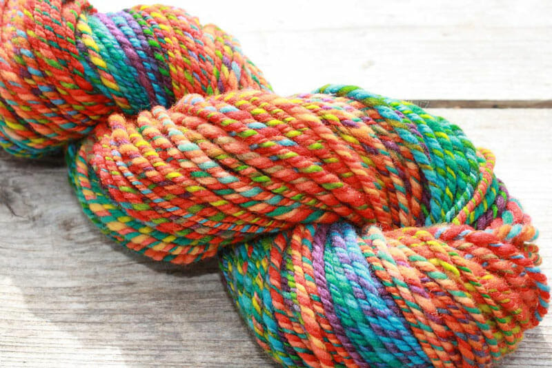 Colorful merino wool yarn. Via Flickr/sand_and_sky