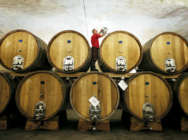 Wine production is big at San Patrignano, where residents work on cultivating the vineyards, wood-aging, bottling and warehouse operations to produce award-winning wines.