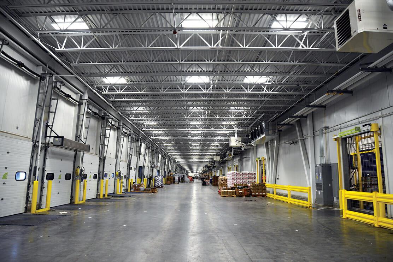 Philadelphia Wholesale Produce Market, nicknamed 'the world's largest fridge'.