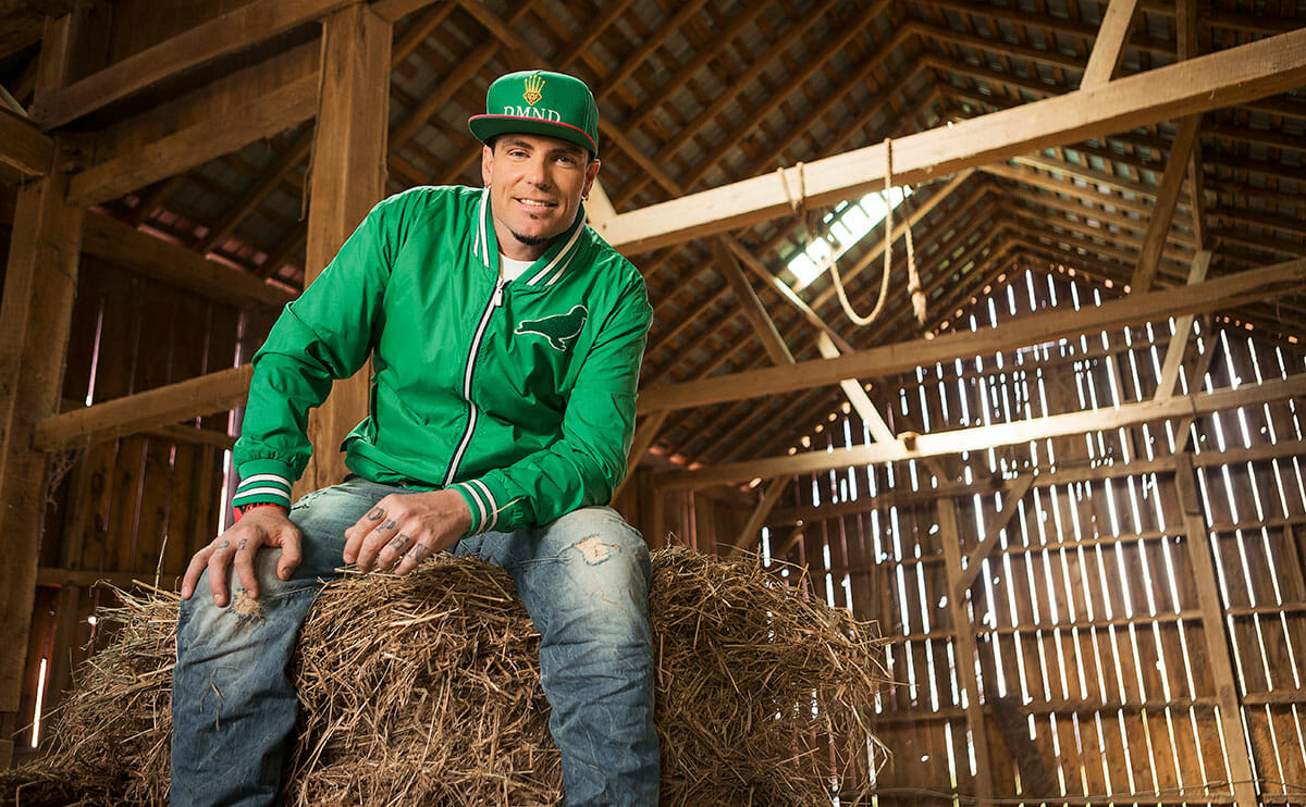 Hanging out in the hay barn.