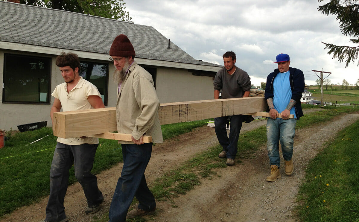 Carrying beams for the barn raising