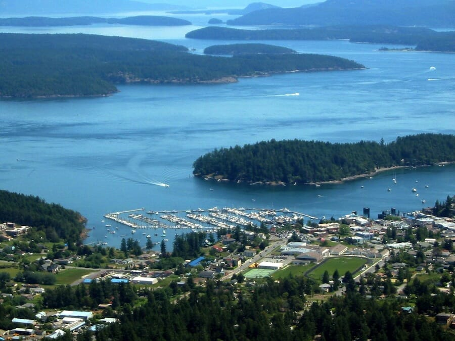 Aerial of Friday Harbor.