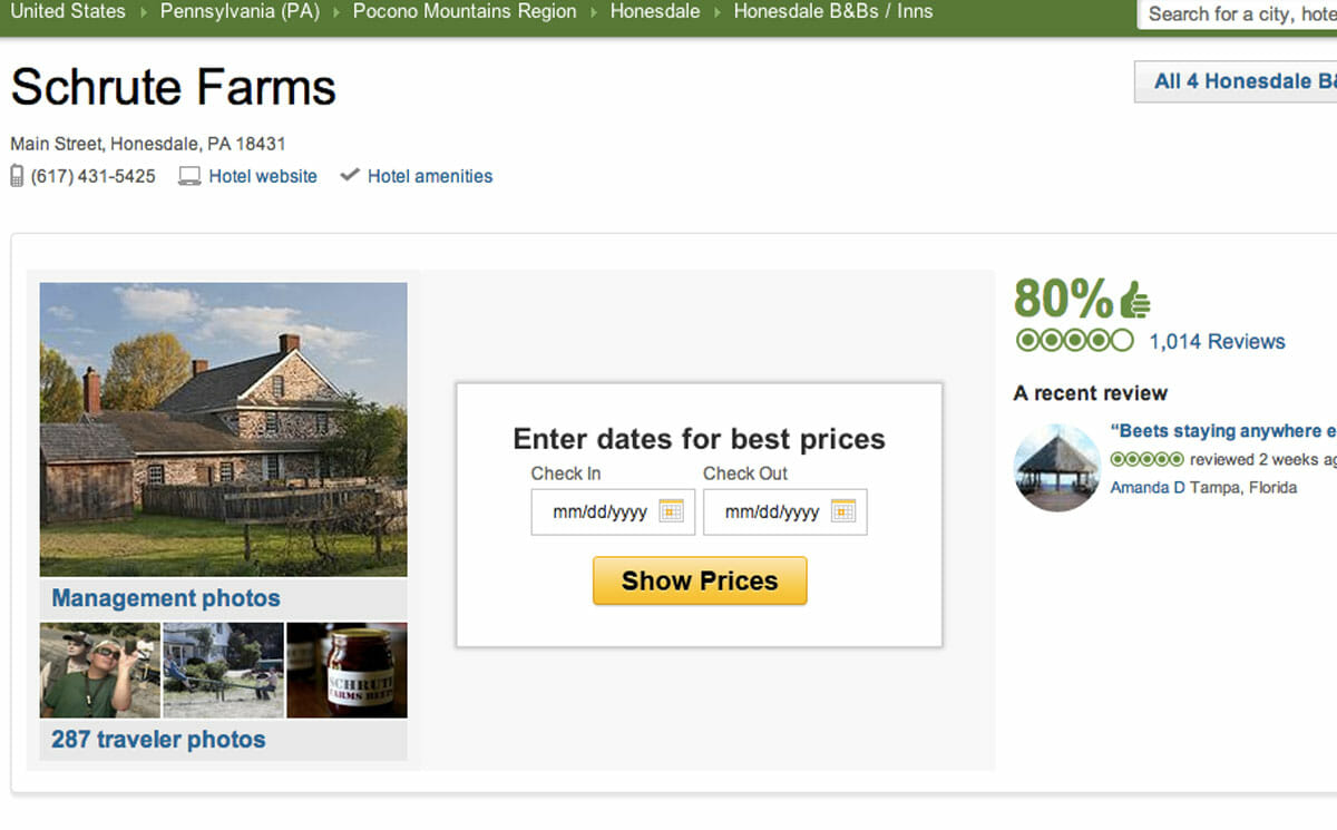 Schrute Farms Fake Agritourism Gets Real Reviews Modern Farmer