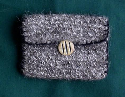A coin purse made from the hair of a Husky / Courtesy Doreen Kelly