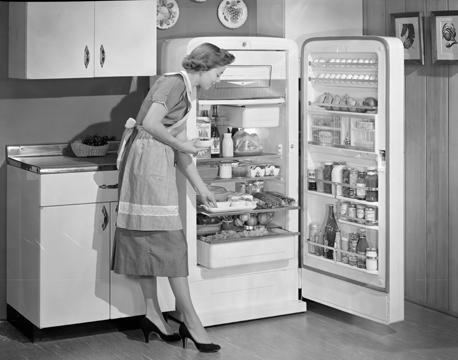 Irma Harding poses in a kitchen. / Courtesy Wisconsin Historical Society.