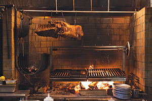 The Grillworks grill at Reynard in action.