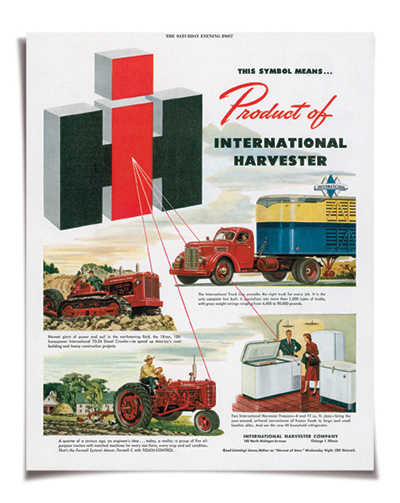 A 1950's advertisement for International Harvester. / Courtesy Wisconsin Historical Society.