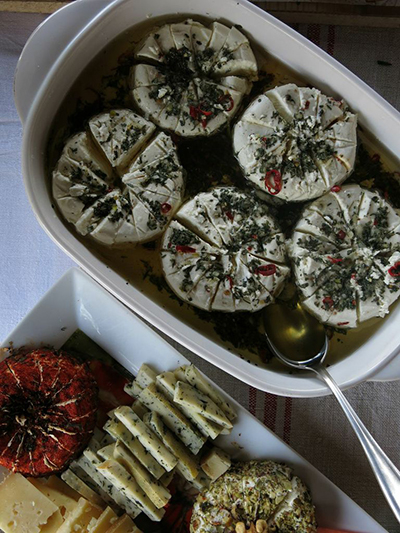 Like everything served at the Transylvanian Brunch, the cheeses were homemade.