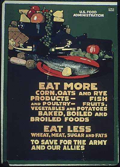 Many posters acted as dietary instruction sheets.