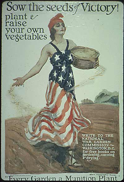 Victory gardens were marketed as a way women at home could help the war effort.
