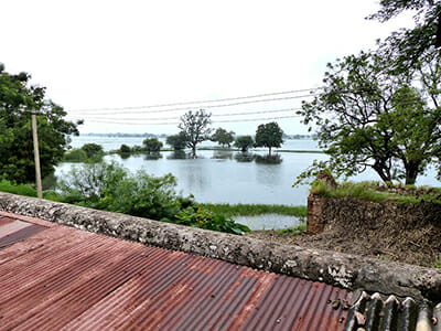 A view of the backwaters from Gopal's family home.