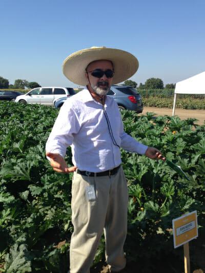 Monsanto squash breeder, Bill Johnson.