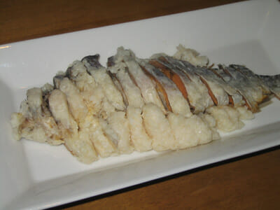 Funa-zushi after years of fermentation.