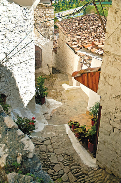 The cobbled streets of Berat, Albania. / Courtesy Jacek Malipan.