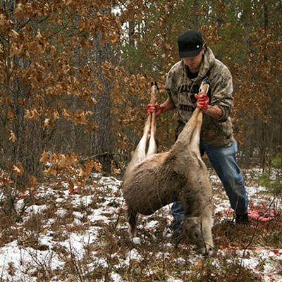 Biskakone Greg Johnson hunts deer on the Lac du Flambeau Ojibwe Reservation in Northern Wisconsin.